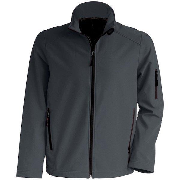 mooie kleur donkergrijs softshell jas