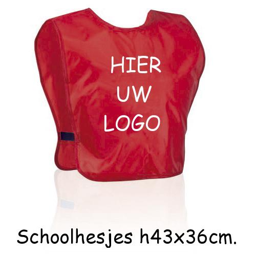 schoolhesjes met eigen logo