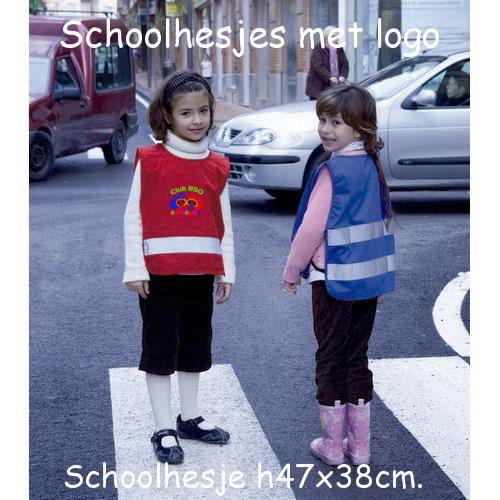 Schoolhesje bedrukt