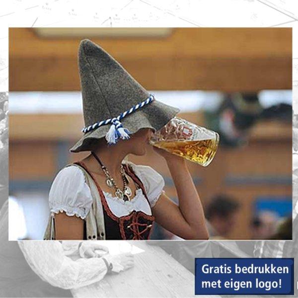 Hoedjes, bierfeest, Tirolerhoed, logo, bedrukken