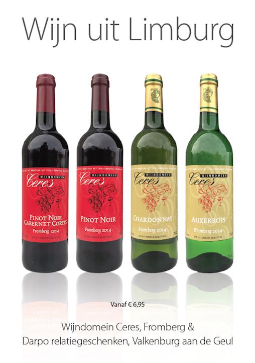 Fromberg, wijn, relatiegeschenken,Ceres, Darpo, Fromberg, Valkenburg