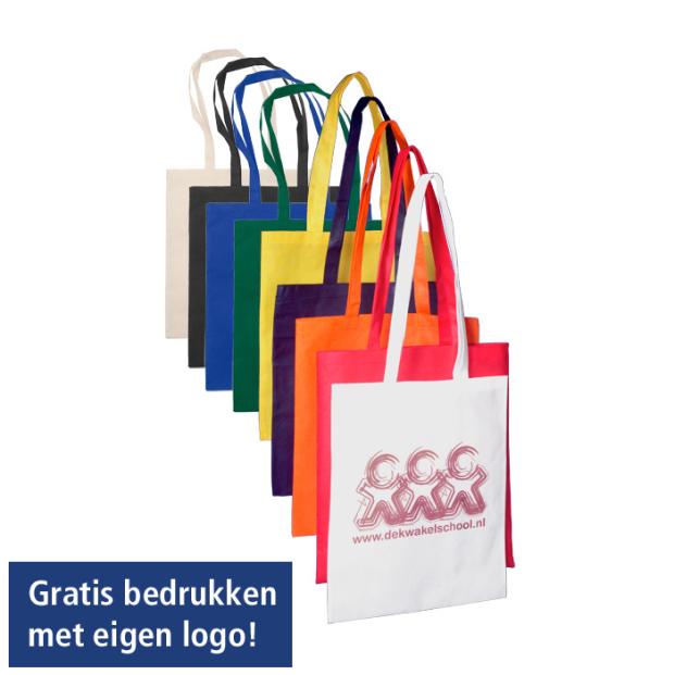 Non-woven tassen bedrukt met uw logo.