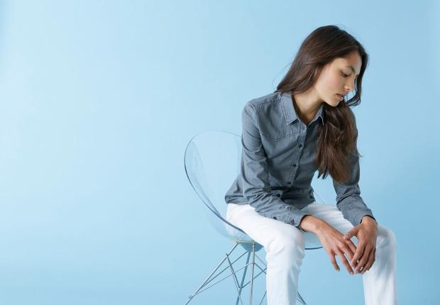 Denim, shirts Stella Stanley, overhemd, jeans hemd, bedrukken, borduren