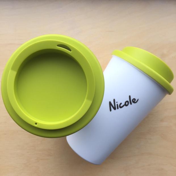 Personaliserings mogelijkheden, koffiebeker, kunststof mok.