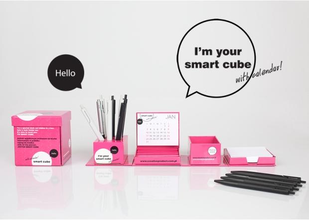 Smart Cube, bureau kalender, bureauhouder karton.