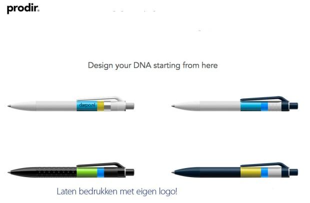 Prodir, DNA, pennen, logo
