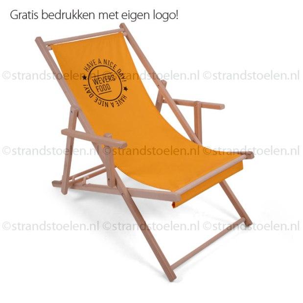 Logo, strandstoel, korte levertijd, bestellen