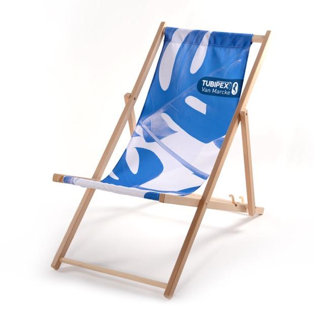 strandstoelen, bedrukken, logo,