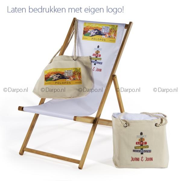 canvas-strandtas-bedrukt-logo